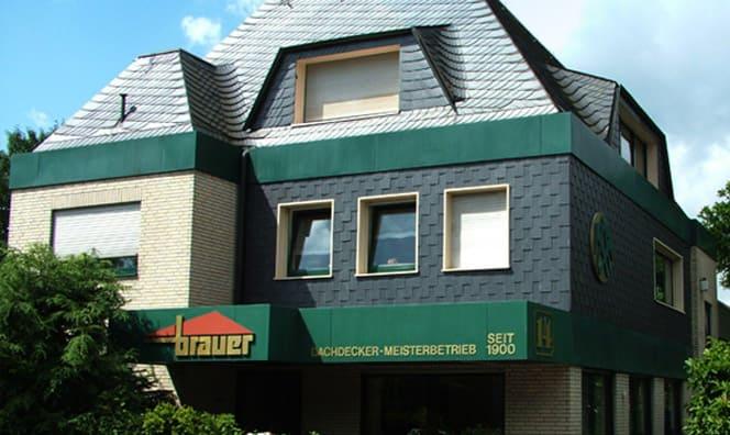 Außenansicht des Dachdecker- und Zimmerermeisterbetrieb